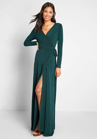 ModCloth Say Yes to Timeless Maxi Dress Dark Green