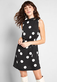 ModCloth ModCloth Up the Excitement Mock Neck Dres