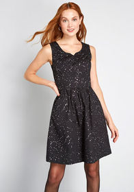 ModCloth ModCloth Heart and Solar System A-Line Dr