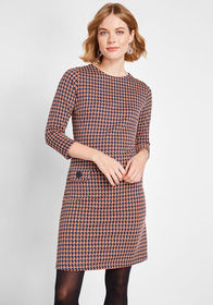 Seeing a Pattern A-line Dress Multi Houndstooth