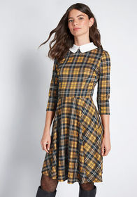 ModCloth ModCloth Perfectly Proper Knit A-Line Dre