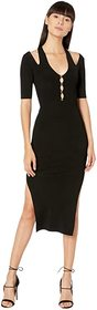 Versace Jeans Couture Knit Short Sleeve Midi Dress