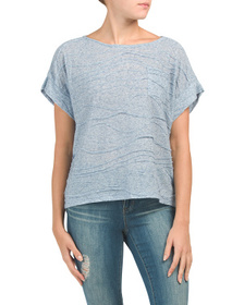 JONES NEW YORK SIGNATURE Dolman Pocket Tee