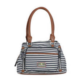Lily Bloom Maggie Stripe Satchel