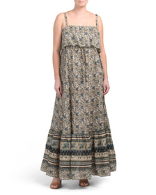 FREE PEOPLE Tangier Babydoll Maxi Dress