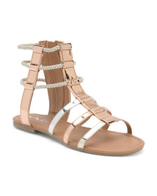 NINA Metallic Gladiator Sandals (Little Kid, Big K