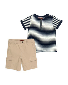 7 FOR ALL MANKIND Little Boys Striped Tee And Stre
