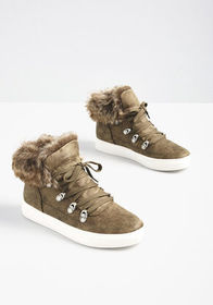 Just Fur You Sneaker Olive Green