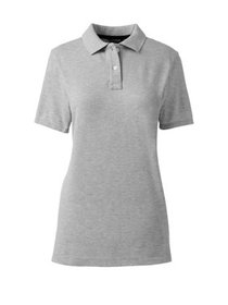 Lands' End Juniors' Short Sleeve Cotton Mesh Polo