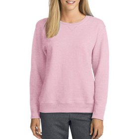 Hanes Womens V-Notch Pullover Fleece Sweatshirt