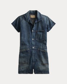 Ralph Lauren Cotton-Linen Romper