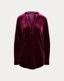 Ralph Lauren Stretch Velvet Blouse