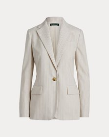 Ralph Lauren Striped Wool-Blend Blazer