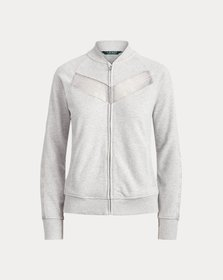 Ralph Lauren Lace-Trim Fleece Jacket