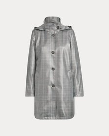Ralph Lauren Plaid-Print Trench Coat