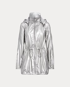 Ralph Lauren Metallic Taffeta Hooded Jacket
