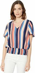 MICHAEL Michael Kors Court Stripe Smocked Blouse