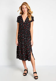 ModCloth Easily Adored Knit Dress Black Multi