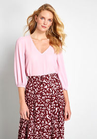 ModCloth Certainly Essential Woven Top Pink