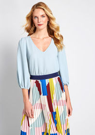 ModCloth Certainly Essential Woven Top Light Blue