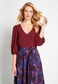 ModCloth Certainly Essential Woven Top Burgundy