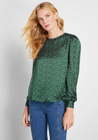 Louche Louche Made You Look Long Sleeve Blouse Gre