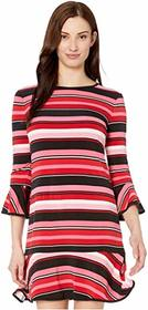 MICHAEL Michael Kors Stripe Flounce Dress