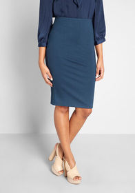 ModCloth Uptown to Downtown Pencil Skirt Navy