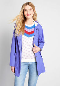 ModCloth At All Showers Raincoat Blue