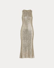 Ralph Lauren Sequined Fit-and-Flare Dress