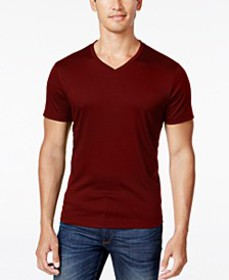 Men's Soft Touch Stretch V-Neck T-Shirt, Created f