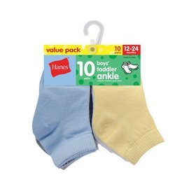 Hanes Ankle Socks, 10-Pack (Baby Boys)