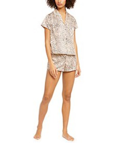 INC Printed Short Sleeve Top & Shorts Pajama Set,