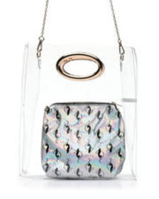 Baby Phat baby phat clear tote w/ silver pouch