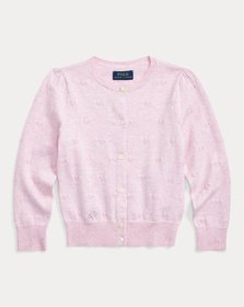 Ralph Lauren Knit-Heart Cotton Cardigan
