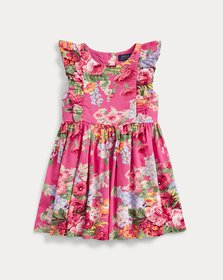 Ralph Lauren Floral Ruffled Cotton Dress