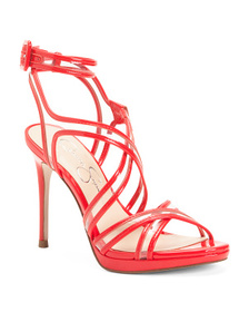 JESSICA SIMPSON Lucite Strappy High Heels