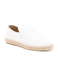 AQUATALIA Made In Spain Leather Espadrille Flats