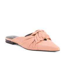 Reveal Designer Pointy Toe Leather Mules