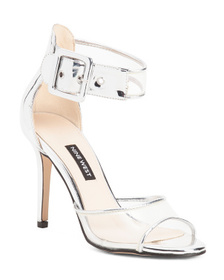NINE WEST Double Strap Vinyl Dress Heels