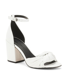 Reveal Designer Leather Ankle Strap Sandals