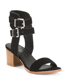 SOL SANA Double Buckle Suede Sandals