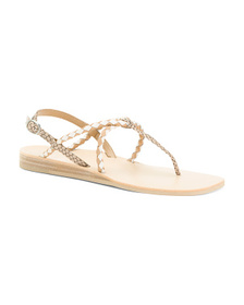 DOLCE VITA Snake Embossed Leather Sandals