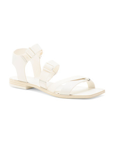 DOLCE VITA Sporty Square Toe Leather Sandals