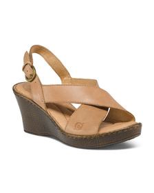 BORN Comfort Leather Wedges