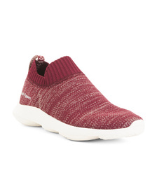HUSH PUPPIES Comfort Knit Slip On Sneakers