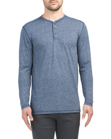 MBX Long Sleeve Marled Henley