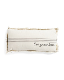 ENVOGUE 14x28 Love Grows Here Pillow