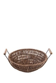 Home Essentials and Beyond Seagrass Round Woven Ba