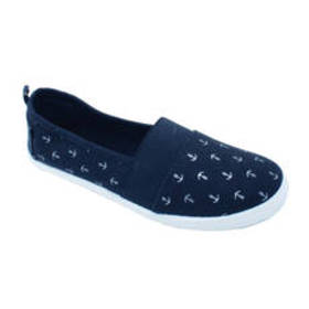 Womens Ashley Blue Anchors Slip On Sport Casuals